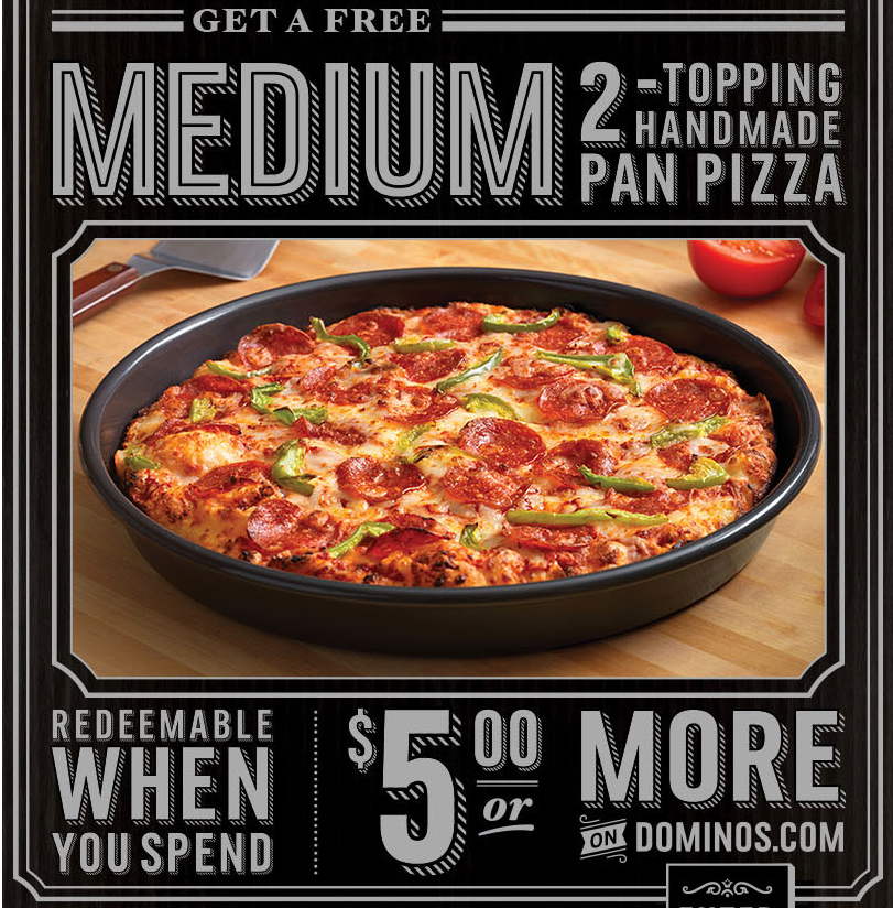 dominos handmade pan pizza coupon code