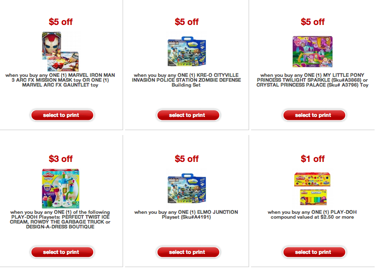 Freebies2deals Targe Toy Coupons