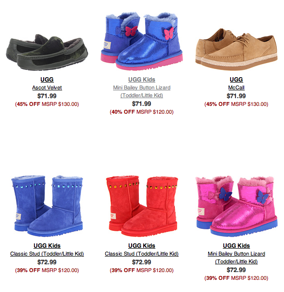 freebies2deals-ugg-selection