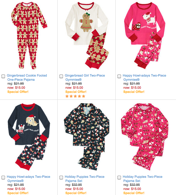 Gymboree: $15.00 Christmas Pajama Sets! Matching Sets For Mom ...