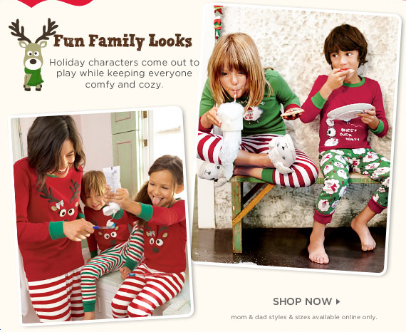 Gymboree: $15.00 Christmas Pajama Sets! Matching Sets For Mom ...