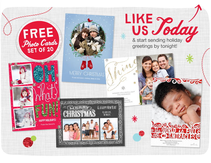 Walgreens: 20 FREE 5X7 Flat Photo Cards! Facebook Offer ...