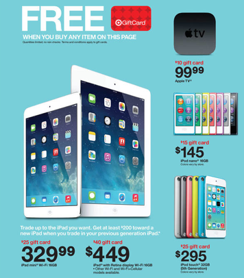 Target coupons for apple ipod