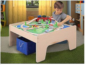 Freebies2deals 45piecewoodentraintable Has The Wooden Activity Table