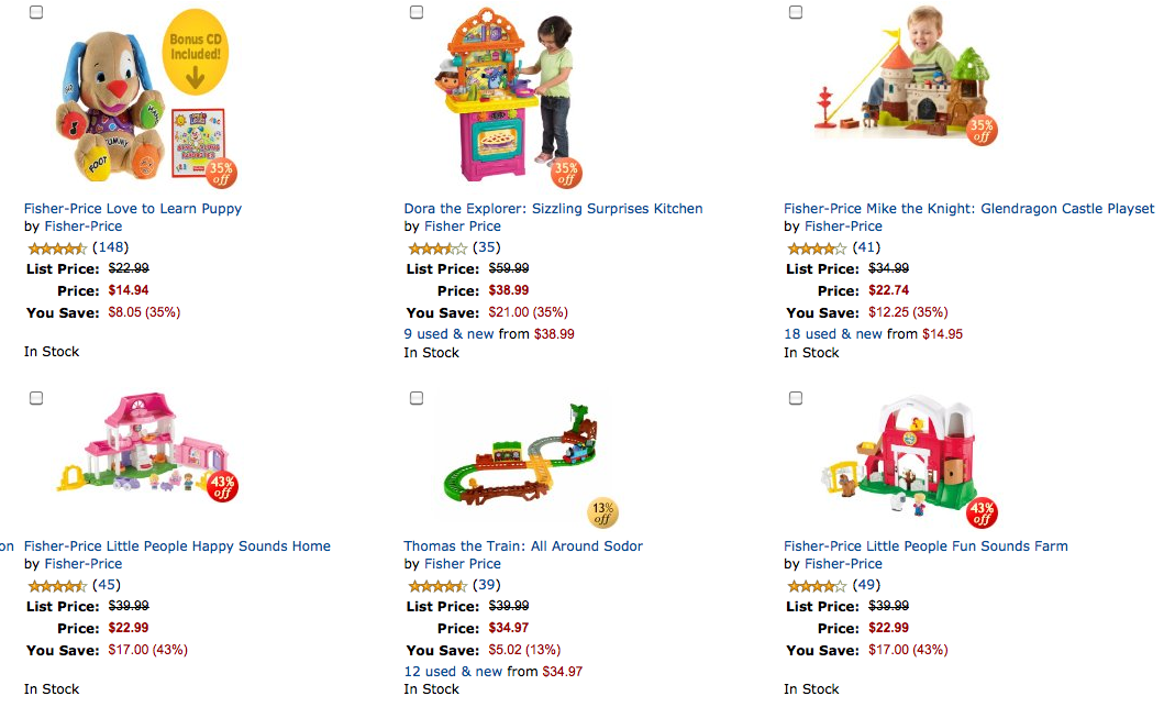 Amazon coupons for fisher price toys