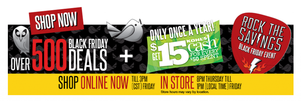 freebies2deals kohls black friday online early