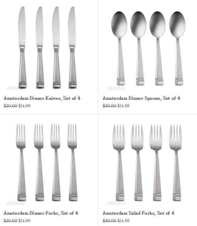 Oneida Buy One Set Of 4 Flatware Get One Free Plus