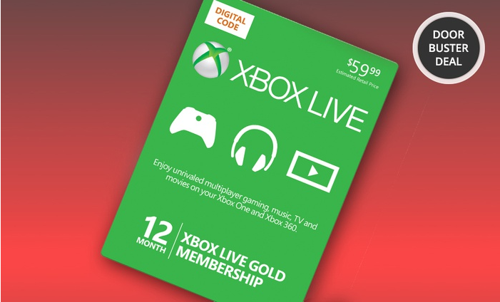 Groupon 12 month xbox live gold card amp 10 in groupon bucks 59 99