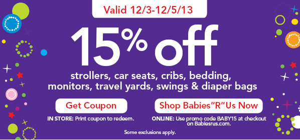 Babies R Us 15 Off Select Baby Gear Strollers Car
