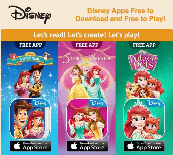 FREE Disney Apps! Princess Story Theater, Princess Palace ...