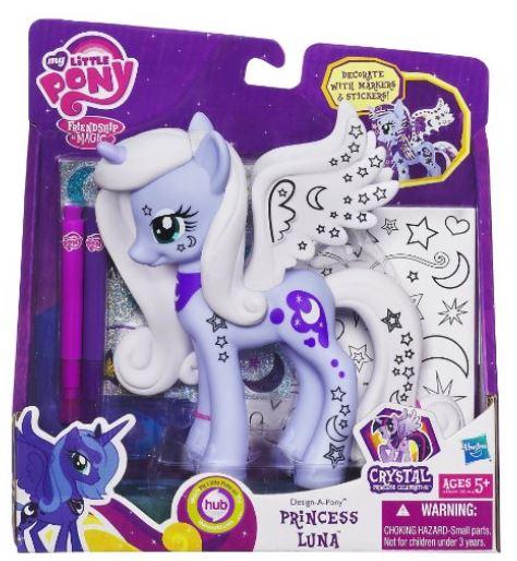 amazon my little pony design a pony princess luna figure. Black Bedroom Furniture Sets. Home Design Ideas