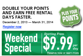 Weekend car rental deals nyc