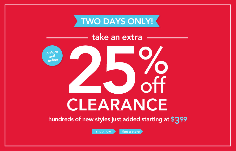 Take An Additional 25 Off All Clearance At Carter S In Store