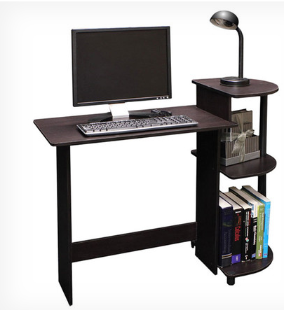 Today Only – Compact Computer Desk in Espresso & Black Only $32.99