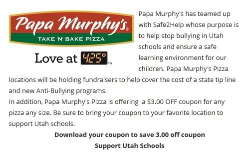 image regarding Papa Murphy Coupon Printable identified as Printable Coupon For $3.00 Off Any Papa Murphys Pizza! Employ