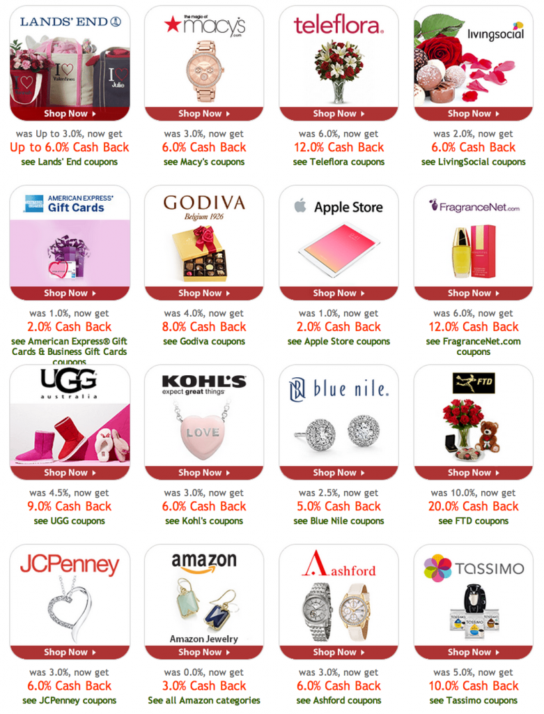 Get cash back and a free 10 gift card when you shop valentines free gift card from ebates cash back xflitez Gallery