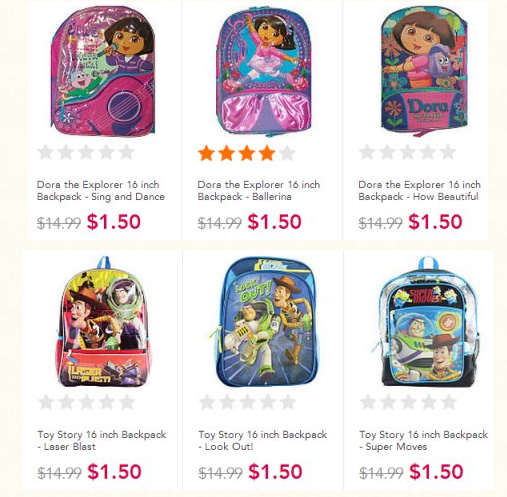May The Fourth Be With You Toys R Us: Toys R Us Clearance: Dora & Toy Story Backpacks Only $1.50
