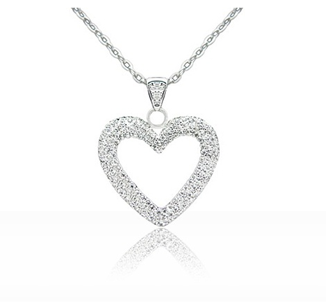 Groupon swarovski heart pendant necklace 1598 shipped freebies2deals heart pendant mozeypictures Images