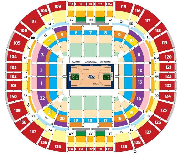 Utah jazz seating map new york map
