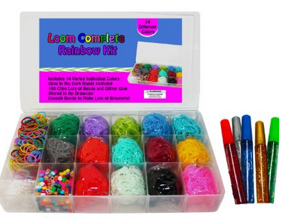 Loom Rainbow Rubber Band Complete Collection Amp Organizer