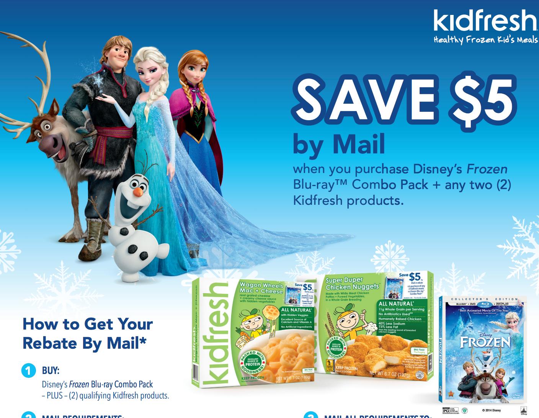 mail in rebate for Disney's frozen