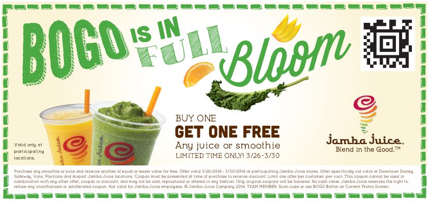 graphic about Jamba Juice Printable Coupon titled Jamba juice invest in 1 order 1 : Black apple manufacturing unit outlet