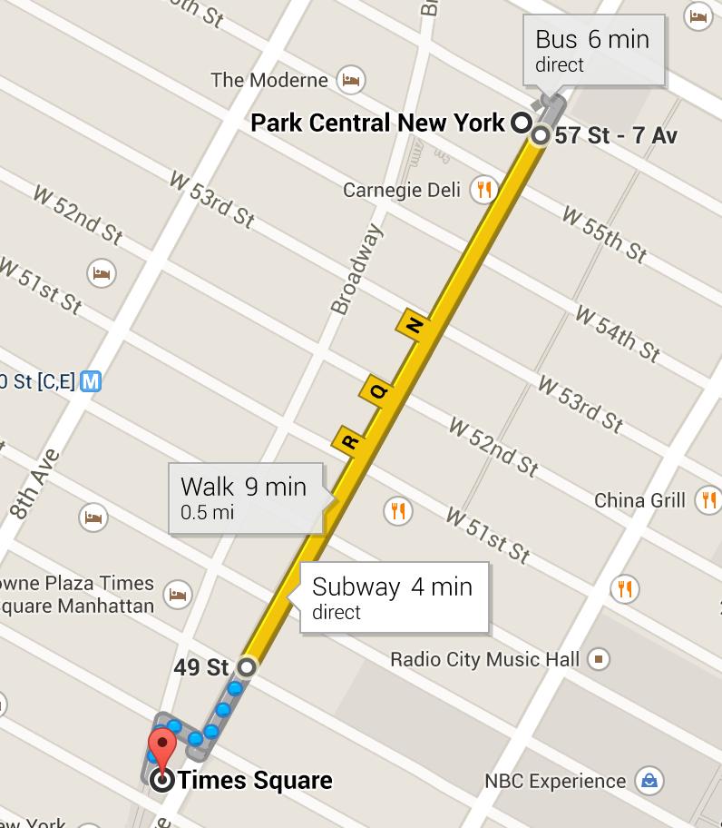 directions using Google