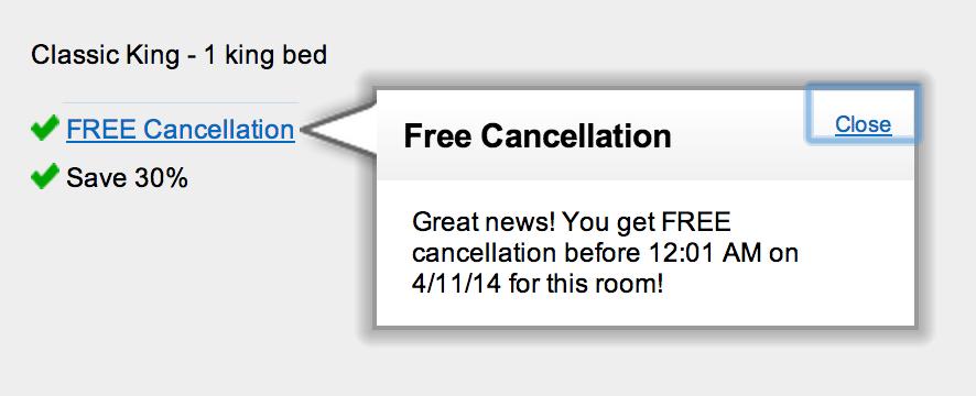 free cancelation on hotels