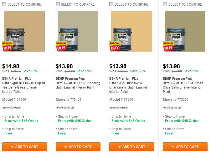 Home Depot Up To 59 Off Interior Paint Or Off 1 Gallon Or 20 Off 5 Gallons Of Paint