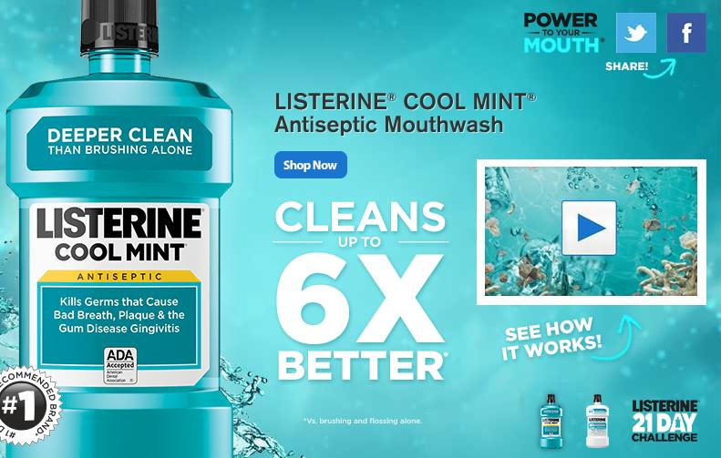 Walmart Free Sample Of Listerine Cool Mint Antiseptic