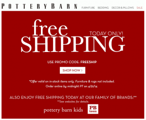 Free Shipping Sites >> Free Shipping On All Pottery Barn Sites Today Only April 21st