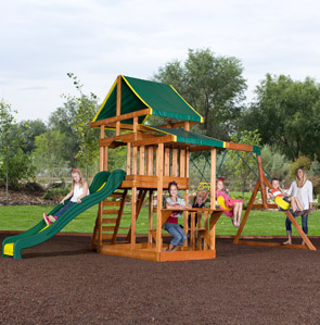 Backyard Discovery Cedar Wood Swing Sets Marked Down At ...