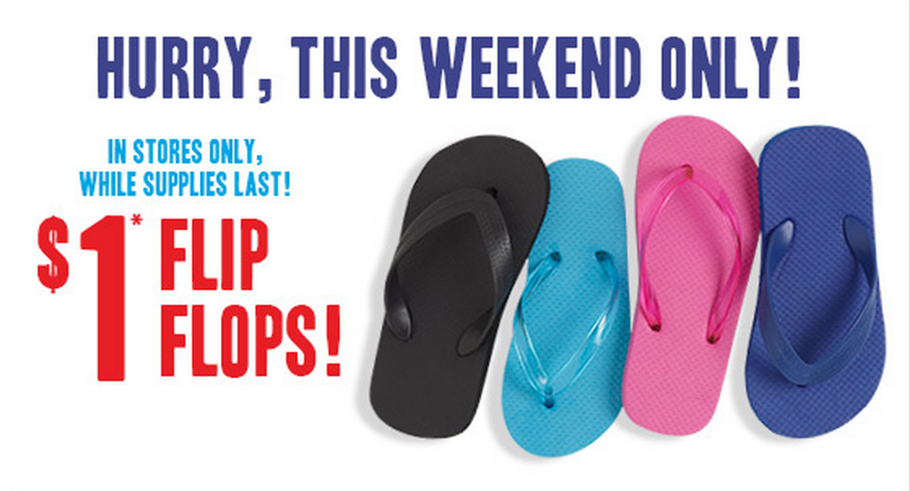$1 flip flops