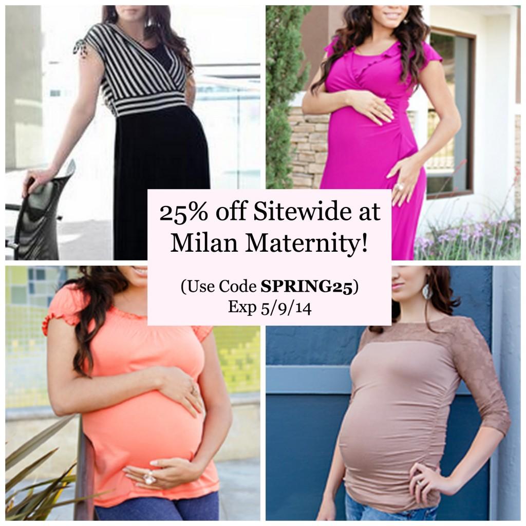 Milan maternity coupon code
