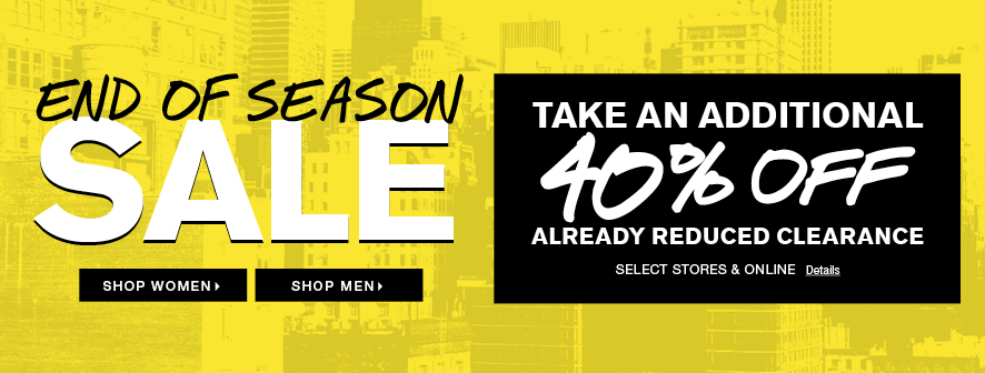 Express End Of Season Sale Up To 70% Off + Extra 30% Off Clearance! Sale at Express. Stock up your wardrobe with some awesome savings! Shop at Express online starting right now and save up to 70% off everything site wide PLUS an additional 30% off clearance styles! Women's styles are as low as $ and men's styles as low as $! Offer is available for a limited time, while quantities.