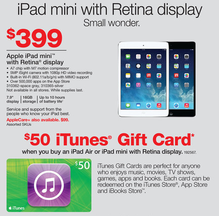 how to add itunes gift card to ipad