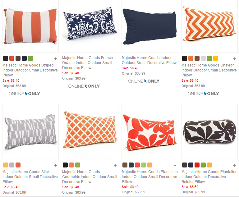 HOT Kohl's IndoorOutdoor Decorative Pillows Just 40408 Regularly Enchanting Decorative Pillows Kohls