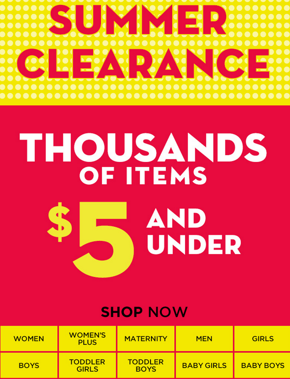 Old Navy HUGE Clearance Sale Starts Today! (1,000\'s of Items from $5 ...