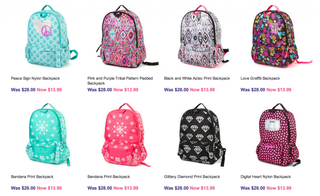 School bags online deals - Backpacks Start As Low As 13 99 And They Have A Pretty Good Selection