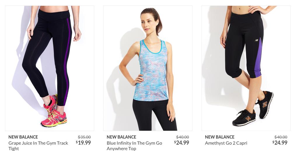 new balance sports wear