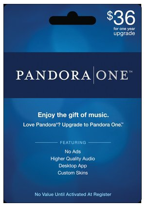 Target: 1-Year Pandora One Subscription Gift Card Only $36.00 ...