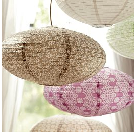 pottery barn paper lanterns eBay
