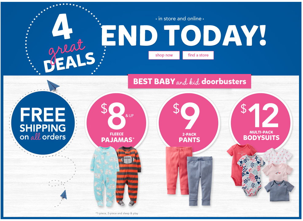 048c7b52d All about Baby Girl Doorbusters Carters Free Shipping - kidskunst.info