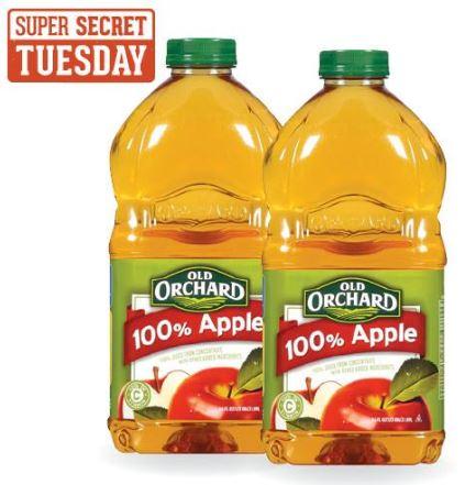 Utah Readers Super Secret Tuesday Deals At Harmons Grab Old - Secret benefits drinking apple juice