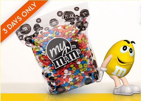 Personalized m&m coupon
