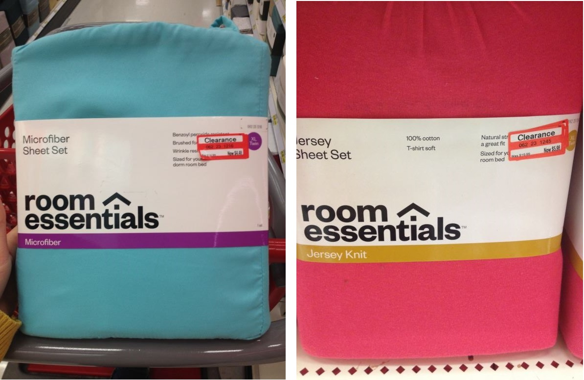 Target Microfiber/Jersey Knit Sheets Marked Down To As Little As $4.94 At  Target!