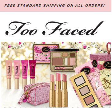 We have 15 Too Faced Cosmetics coupons including promo codes and free shipping deals for December Today's top coupon is a 20% Off coupon code. If you're tired of the boring makeup you find at every-other store, transform your beauty regimen with Too Faced Cosmetics.