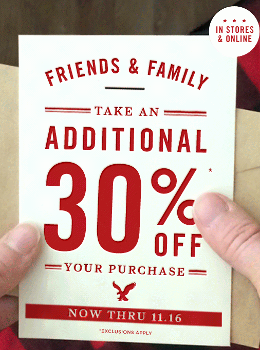 American Eagle Friends Amp Family Sale Take An Additional