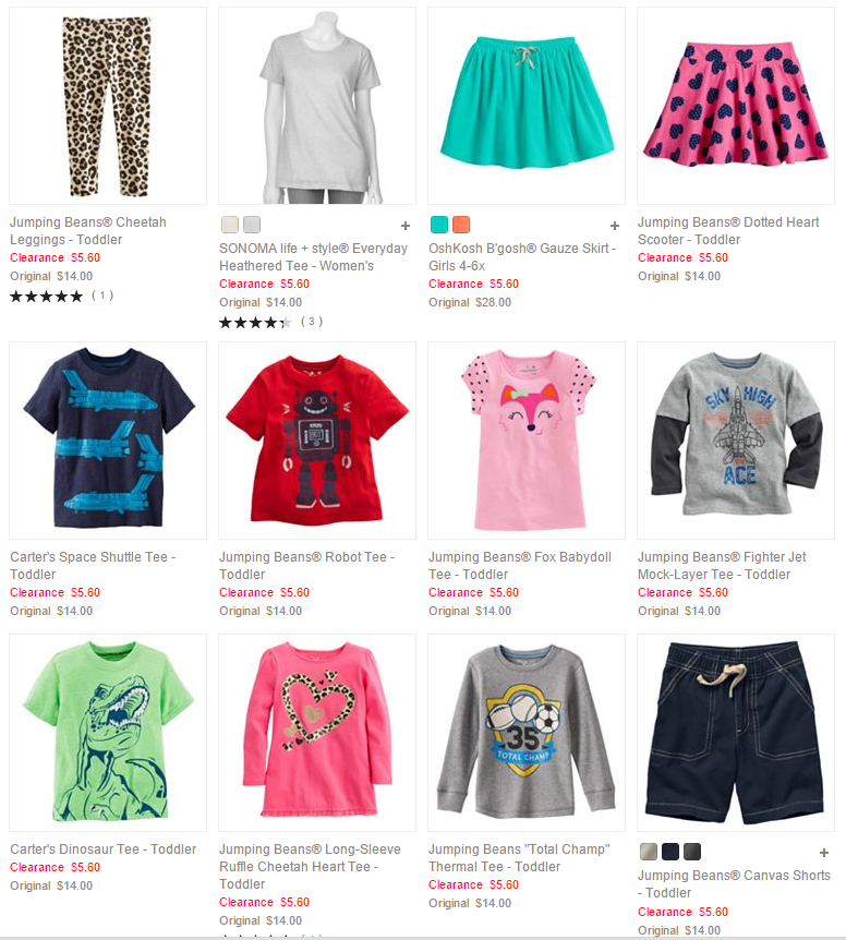 Kohls Baby Clothes New Kohls Tons Of Baby Toddler Clothing 6060 Or Less Plus An Extra