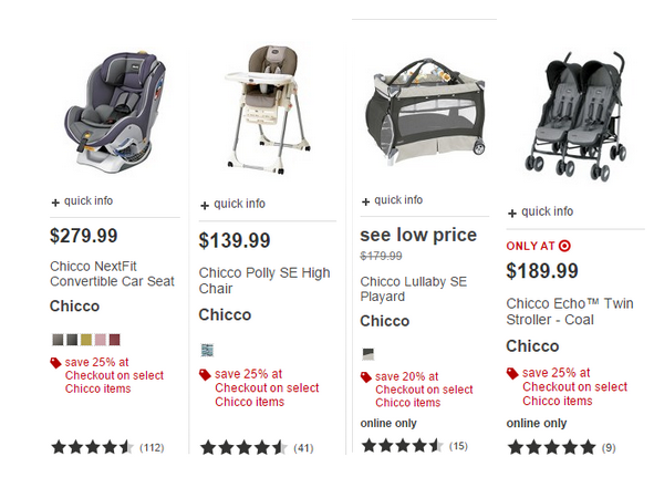 Up To 25 Off Chicco Baby Gear Clothing At Target